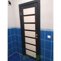 Турин 507 Венге/ ясень перламутровый черное стекло