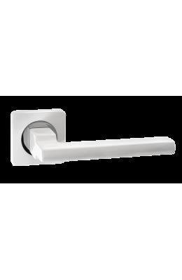 Ручка дверная Ренц Рим DH 53-02 SW/CP Супер белый/ хром блестящий