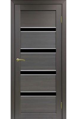 Дверь межкомнатная Турин 505 АПС Молдинг с черным стеклом