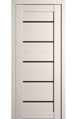 Дверь межкомнатная Анкона Белая с черным стеклом