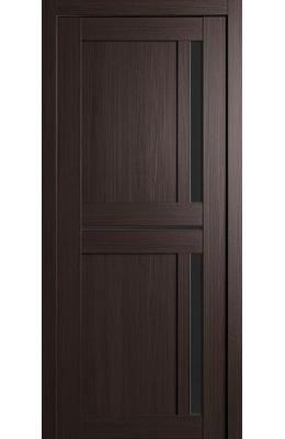Дверь межкомнатная Неаполь Венге с черным стеклом