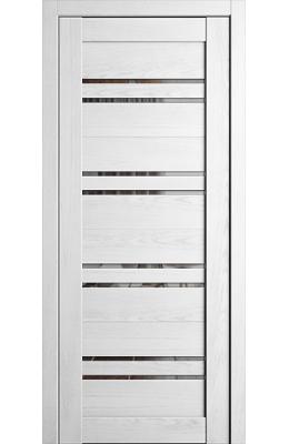Дверь межкомнатная Ромена Тангент белый Зеркало