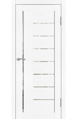 Дверь межкомнатная Турин Тангент белый Стекло зеркало