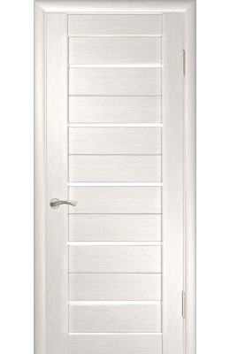 Дверь межкомнатная Лу 22 Беленый дуб Белое стекло