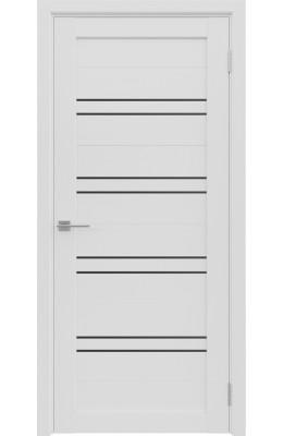 Дверь межкомнатная ЭКО-2 Бьянко Черное стекло
