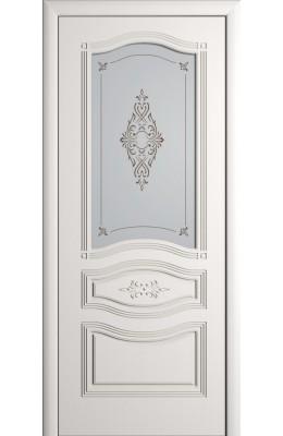 Дверь межкомнатная остекленная Офелия Выбеленный дуб