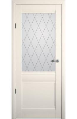 Дверь межкомнатная остекленная Рим Ваниль