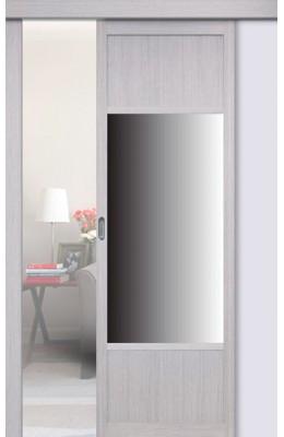 Перегородка межкомнатная Оптима Порте 131.111 с зеркалом