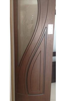Дверь межкомнатная остекленная Лагуна Шоколад