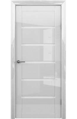 Дверь межкомнатная Вена Белый глянец